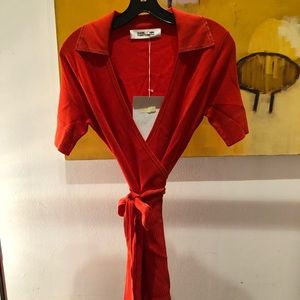 Spicy orange DVF ZAYLA DRESS original first sample